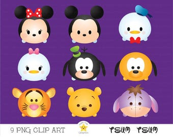 Tsum tsum clipart, tsum tsum graphics, disney tsum tsum, intstant download, party, baby shower, printable