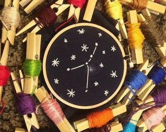 Zodiac Cancer Constellation Needlepoint