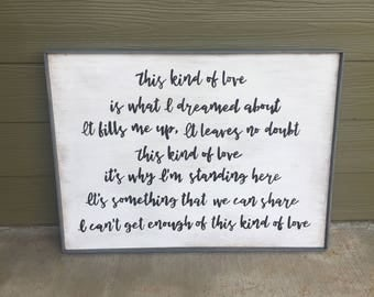 CUSTOM Wooden Song Lyric Sign - Hand Painted