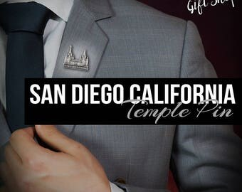 San Diego pin lapel pin in Silver or gold antique finish