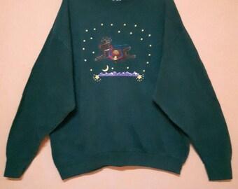 Vintage Sweatshirt Christmas Abstract/theme long sleeve crew neck pullover