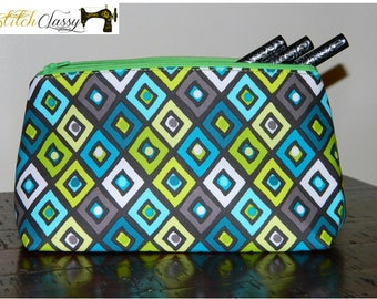 Green and Blue Cosmetic Bag