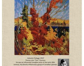 "Tom Thompson Wall Decor Art, Home Decor Textured Canvas Giclée Print 8""x10"" #3"