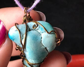 Wired Wrapped Turquoise