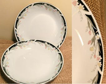 "Pair of Vintage Crown Ming ""Michelle"" Pattern Vegetable Serving Bowls"