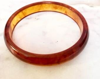 Amber translucent Bakalite bracelet