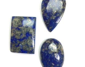 Lapis lazuli gemstone 26 to 29mm (3 pcs)