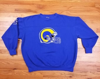 Vintage 90s St. Louis Rams Embroidered Sweater Sweatshirt Shirt Size XL