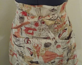Vintage 1940's homemade half apron