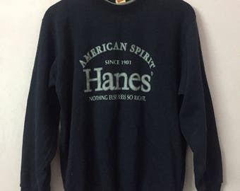 SALE ! Vintage HANES sweatshirt big logo spell out logo