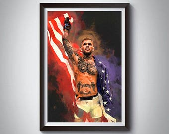 MMA Mixed Martial Arts Inspired Art Poster Painting Print 9