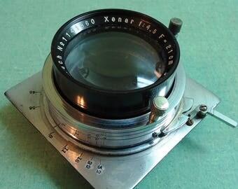 Vintage Camera Lens, Vintage Schneider Kreuznach Xenar 4.5 x 21cm Lens, Vintage Large Format Camera Lens, Vintage Lens, Vintage Camera Lens