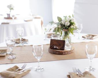 Rustic Wood Wedding Table Numbers