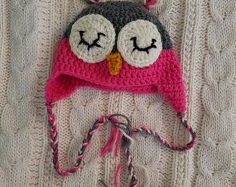 Baby Girl Owl Hat (6-9 months)