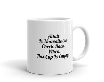 White Mug, Coffee Mug, Quoted Coffee Mug, Coffee Mug With Quote