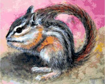 Chipmunk Cross Stitch Chart
