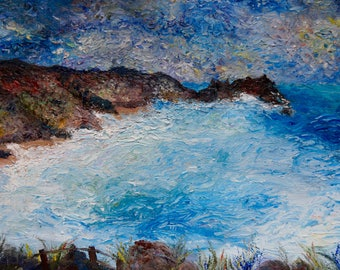 Oil Painting of Porthcurno, Cornwall