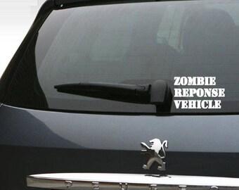 Zombie car window decal, Zombie window sticker