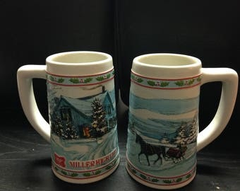 Miller high life collectible 6 inch beer steins