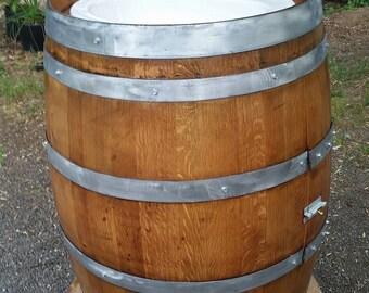Wine Barrel Sink, Reclaimed Wine Barrel Staves, Vintage Barrel Furniture, Custom Built Barrel Sink, Bathroom Vanity, Napa Valley Oak Barrels