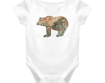 Bear Baby One-piece Bodysuit For New Baby Gift, Infant Onesie For Boy & Girl Great Gift For Baby Shower, Animal Cartoon