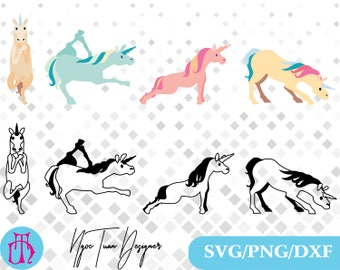 Unicorn Yoga svg,png,dxf/Unicorn Yoga clipart for Design,Print,Silhouette,Cricut and any more