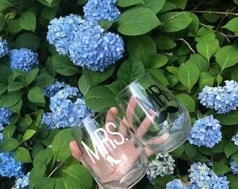 Mr. And Mrs. Wine Glasses