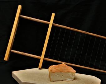 Curd cutter, cheese curd cutter, curd harp, cheese harp, cheese making tool, horizontal curd cutter, artisan cheese making, cheese tools
