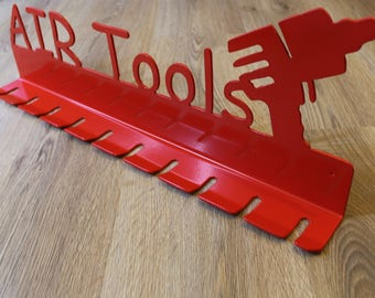 Pneumatic Tool Hanger / Birthday Gift / Modern Art / Custom Metal Sign /  Custom Metal