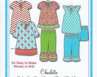 Bonnie Blue Pattern #158 / CHARLOTTE / Sizes 12 mo - 8 yr