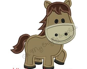 Horse Applique Embroidery Design