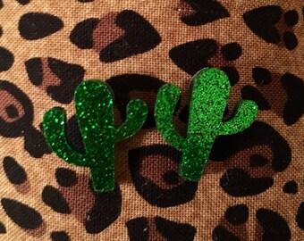Glitter Cactus Earrings