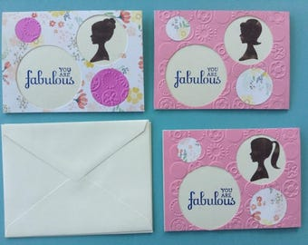 Floral and Vintage Themed Greeting Cards