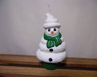 Snowman Soft Serve Ice Cream Ornament