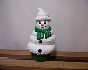 Snowman Soft Serve Ice Cream Decoration
