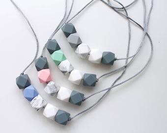 Teething necklace, silicone necklace, pastel necklace, silicone teething necklace, teething jewellery, nursing necklace, teething toy