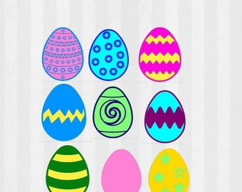 Easter egg SVG, Easter svg, easter eggs svg, svg files for silhouette cameo, cricut explore, easter egg cut file, svg cutting files