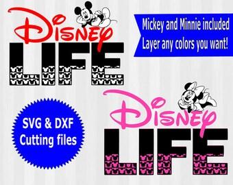 2 Disney Life SVGs, Disney svg, minnie mouse svg, minnie svg, disneyland, disneyworld, disney shirt,studio files, cut file, dxf, vector, svg
