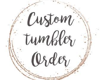 Custom Mason Jar Tumbler // Custom // Tumbler // 24oz Custom Mason Jar Tumbler //DISHWASHER SAFE!