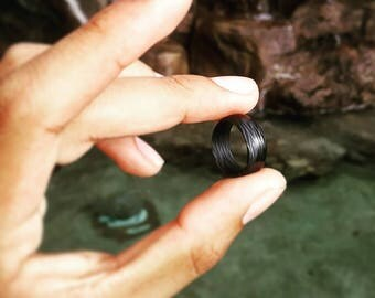 Carbon Fiber Ring Zebra Print