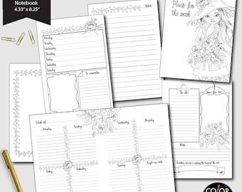 Weekly Printable Standard TN planner, Andrea Weekly Plan Printable Planner Insert.  CMP-224.12
