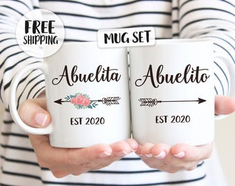 Abuela gift, Abuelo gift, Abuelita gift, Abuelito gift, Spanish pregnancy announcement, Pregnancy announcement Español, New Grandparents