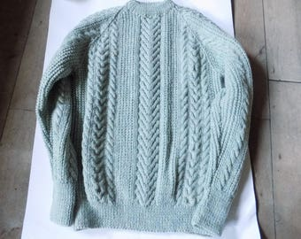 hand knitted aran jumpers