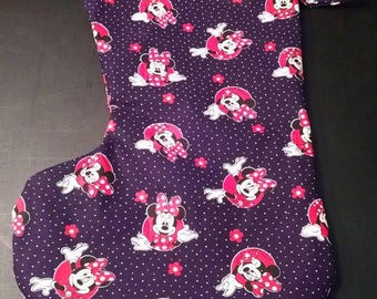 Large Christmas Stocking Minnie Mouse