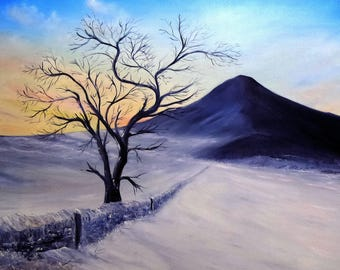 Winter Twilight at the Topping... a limited edition print from an original Gillian Ousby oil painting.