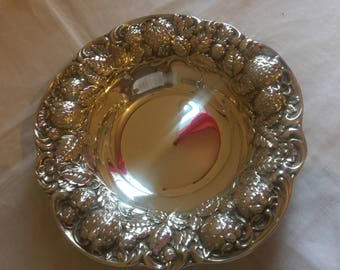 Strawberry Dish Fine Sterling mint condition