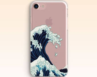 Kanagawa Bunny Wave iPhone SE case iPhone7 case iPhone 6 Cover iPhone 7 Plus Clear case for Samsung S8 Case For Galaxy S8 Plus S7 S6 S5 076