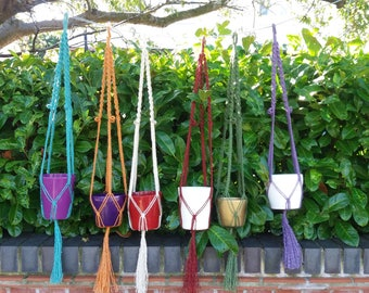 Handcrafted Macramé plant hangers