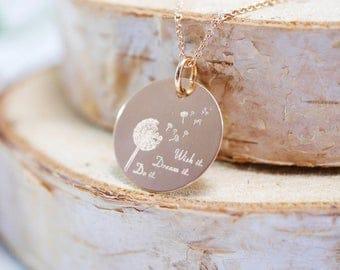 Chain ~ wish it dream it do it. ~ 925 Silver Rosé gold