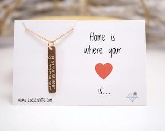 Chain ~ coordinates ~ 925 Silver ~ Rosé gold